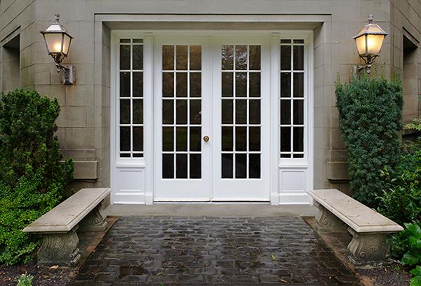 white entry door